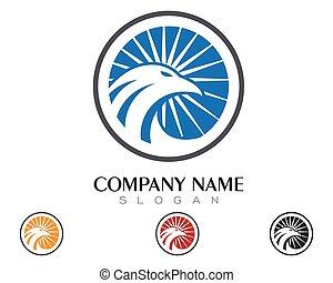 Falcon Logo Template - Falcon Eagle Bird Logo Template...