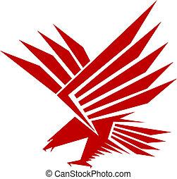 Falcon mascot - Red falcon for mascot or tattoo design