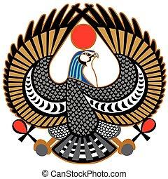 falcon symbol of Horus - falcon ancient Egyptian symbol of...