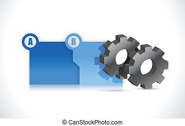 falcownicy, ilustracja, plus, mechanizmy, postęp, kroki