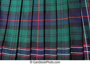 falda escocesa, escocés
