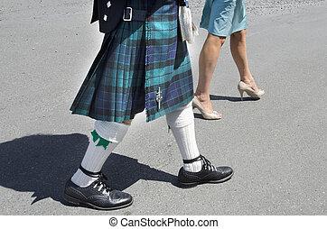 Falda escocesa, hombres,  -,  fasion, escocés, faldas