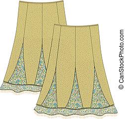 falda, mujeres
