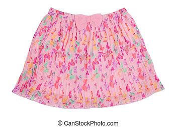 falda plisada, gasa
