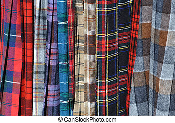 faldas escocesas, escocés