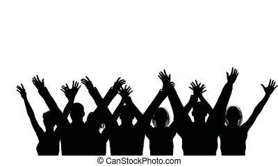 fale, grupa, ludzie, siła robocza