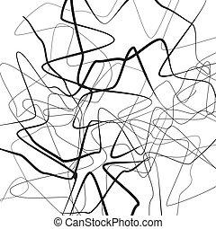 falisty, asymetryczny, illustration.