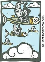 falka, repülő hal