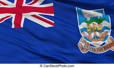 Falkland Islands Flag Closeup Seamless Loop - The Falkland...