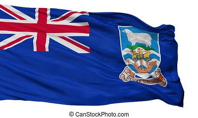 Falkland Islands Flag Isolated Seamless Loop - The Falkland...