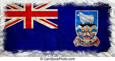 Falkland islands grunge flag