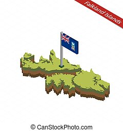 Isometric map of US Virgin Islands detailed vector vector