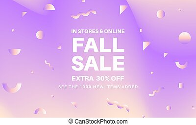 Fall abstract sale banner