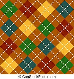 Fall Argyle Pattern