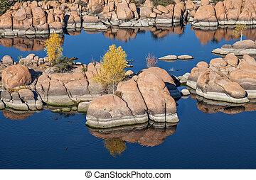 Fall at Watson Lake Prescott Arizona - scenic watson lake...