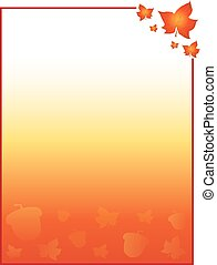 Fall Autumn Background Template