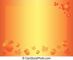 Fall Autumn Background with Leaves