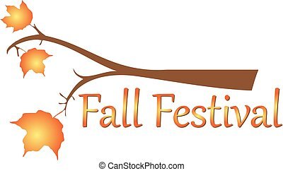 Fall Autumn Festival Branch Leaves Background Template