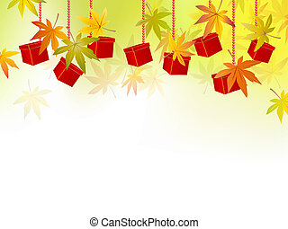Fall, autumn leaves, season sale