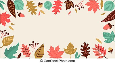 Fall, Autumn season illustration, background