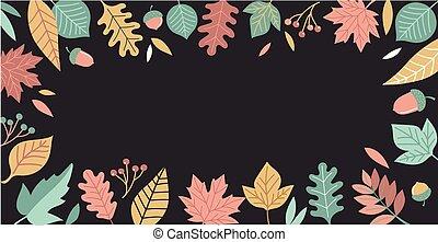 Fall, Autumn season illustration, background