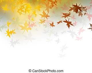 Fall background - autumn leaves