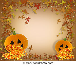 Fall background border - Image and illustration composition...