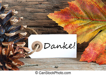 Fall Background with Danke