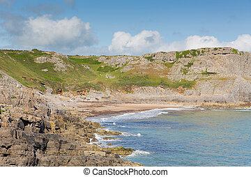 Fall Bay The Gower peninsula Wales