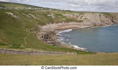 Fall Bay The Gower peninsula Wales - Fall Bay The Gower...