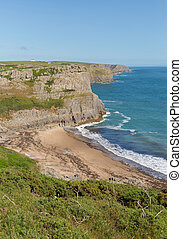 Fall Bay The Gower Wales uk