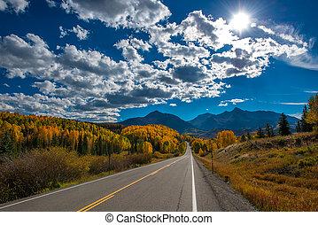 Fall color, Colorado Highway 145