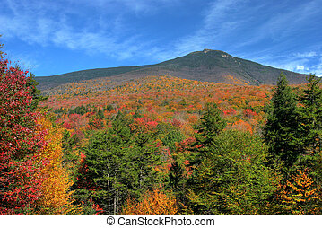 Sweeping vista of fall colors in New Hampshire