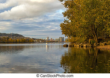 Fall Colors at Sellwood Riverfront Park