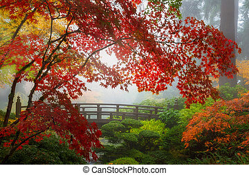 Fall Colors by the Moon Bridge