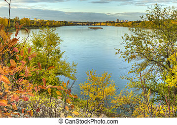 Fall Colors by the River