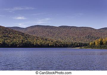 Fall colors over a lake