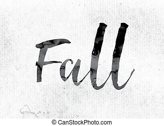 Fall Concept Painted in Ink