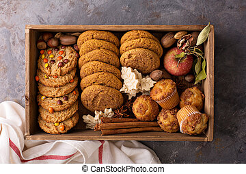 Fall cookies in a box - Fall cookies and muffins in a box ...