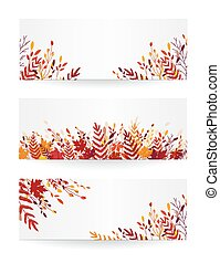 Fall floral banners