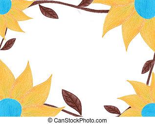 fall flower frame