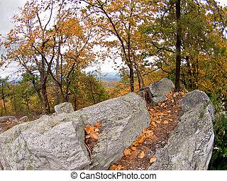 Fall Foliage in Ny State Shawanagunk Mountains (The Gunks)