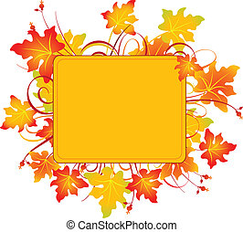 Fall frame - Fall colors adorn background, perfect for ...
