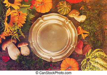 Fall frame with plate