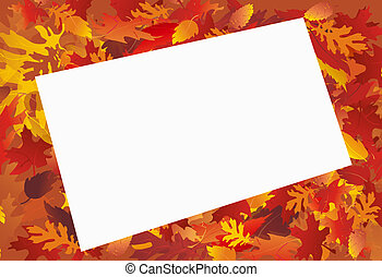 Fall Frame wtih Message