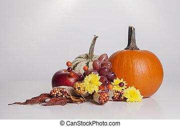 Fall Fruit and Veggie Display
