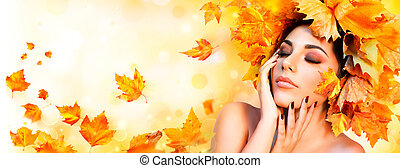 Fall Girl - Beauty Model Woman