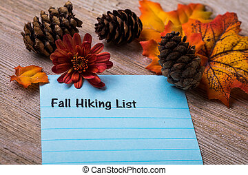 Fall Hiking List
