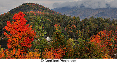 Fall in Lake Placid - early october in lake placid ny