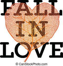 Fall in love - autumn sale poster